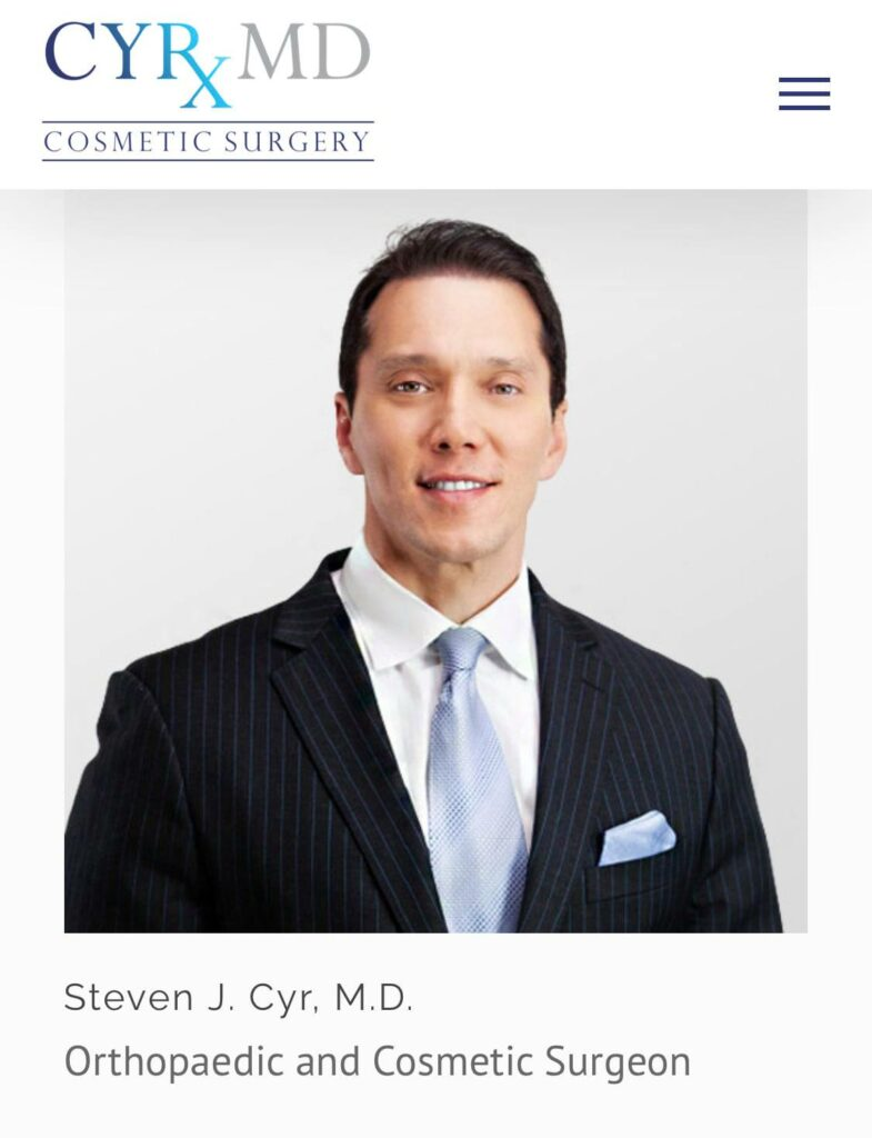 Steven J. Cyr, M.D. - Orthopaedic and Cosmetic Surgeon