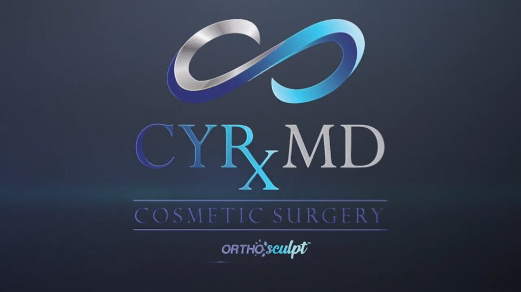 Blue CYRx MD Cosmetic Surgery Logo - OrthoSculpt